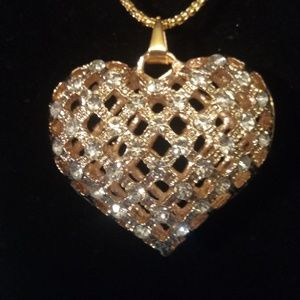 Betsey Johnson Hollow Heart Necklace